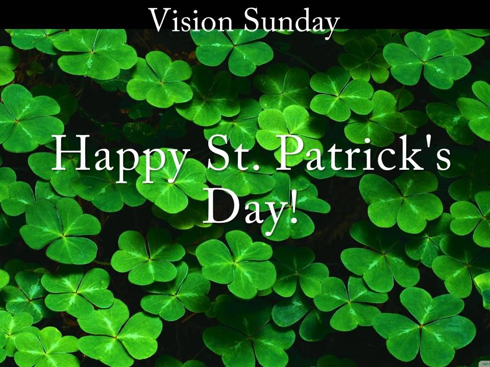 Vision Sunday: St  Patrick - Grace Point